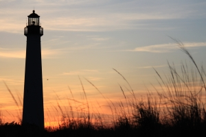 The Cape May Light is one of the most famous lighthouses in NJ