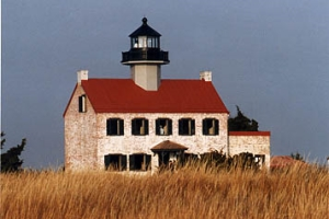 East Point Lighthouse overlooking the Delaware Bay in New Jersey