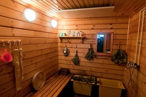 A traditional Russian steam room