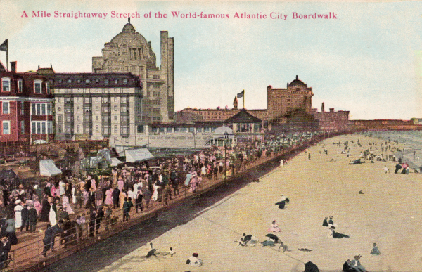 Atlantic City NJ First Boardwalk