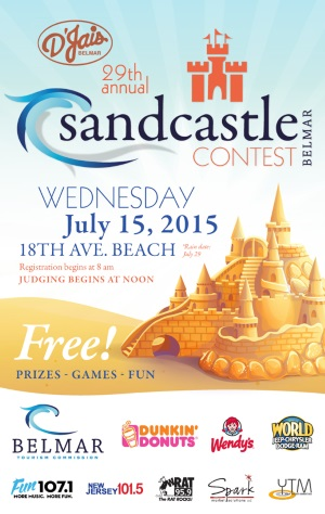 Belmar NJ 2015 Sandcastle Contest