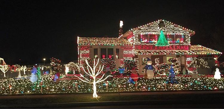 donna street christmas lights middlesex county new jersey