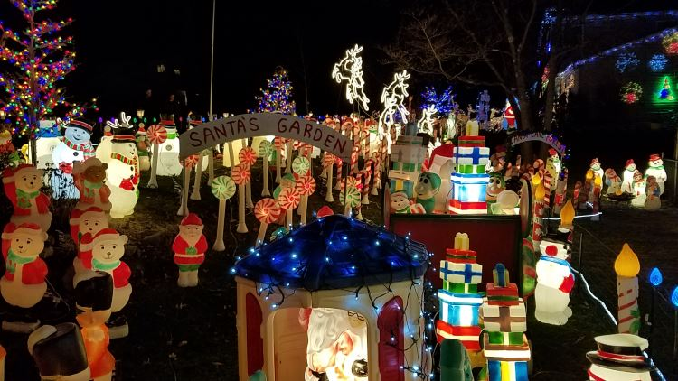 Santas Garden Christmas Display In Northern NJ