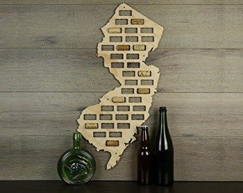 Decorative wine cork NJ shaped display