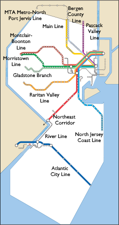 New Jersey Transit Map