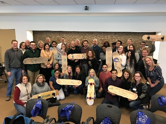 Build your own skateboard team building event in NJ