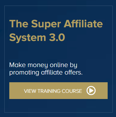 An image of the John Crestani Super Affiliate System with a call to action and says view training course